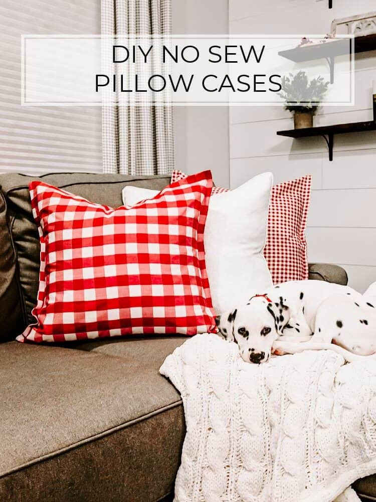 The Easiest No-Sew Pillow Cases