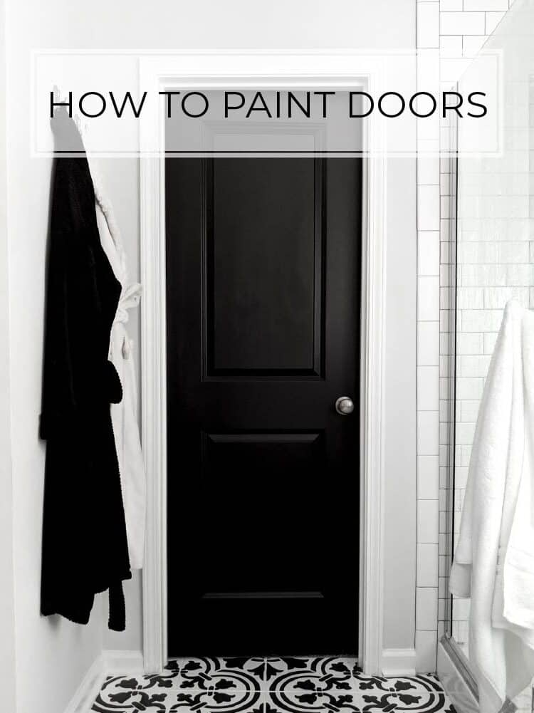 How to Paint Doors Like a Professional (without taking them off the hinges)