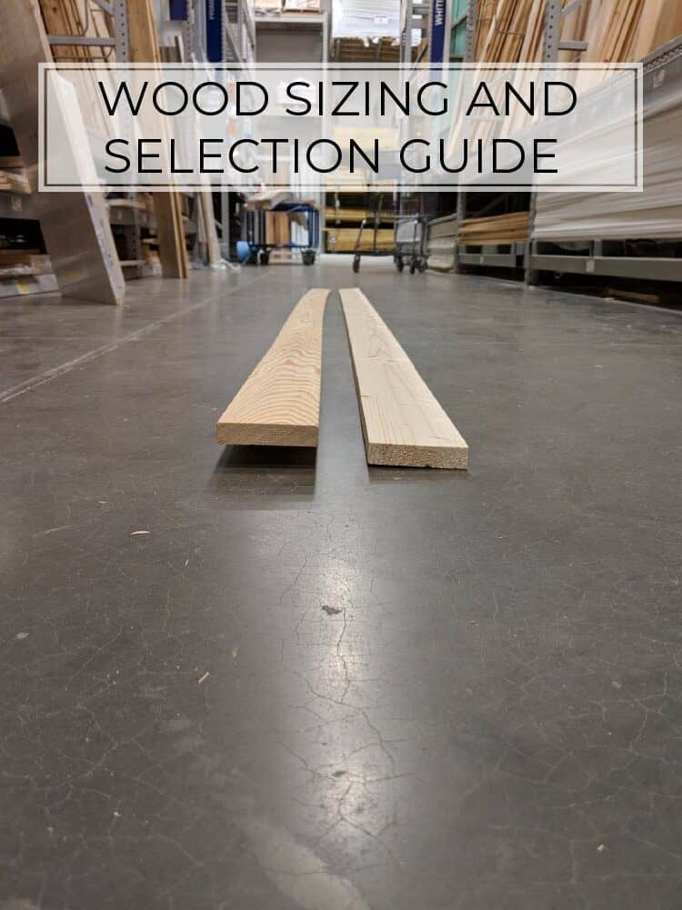 Wood Sizing and Selection Guide