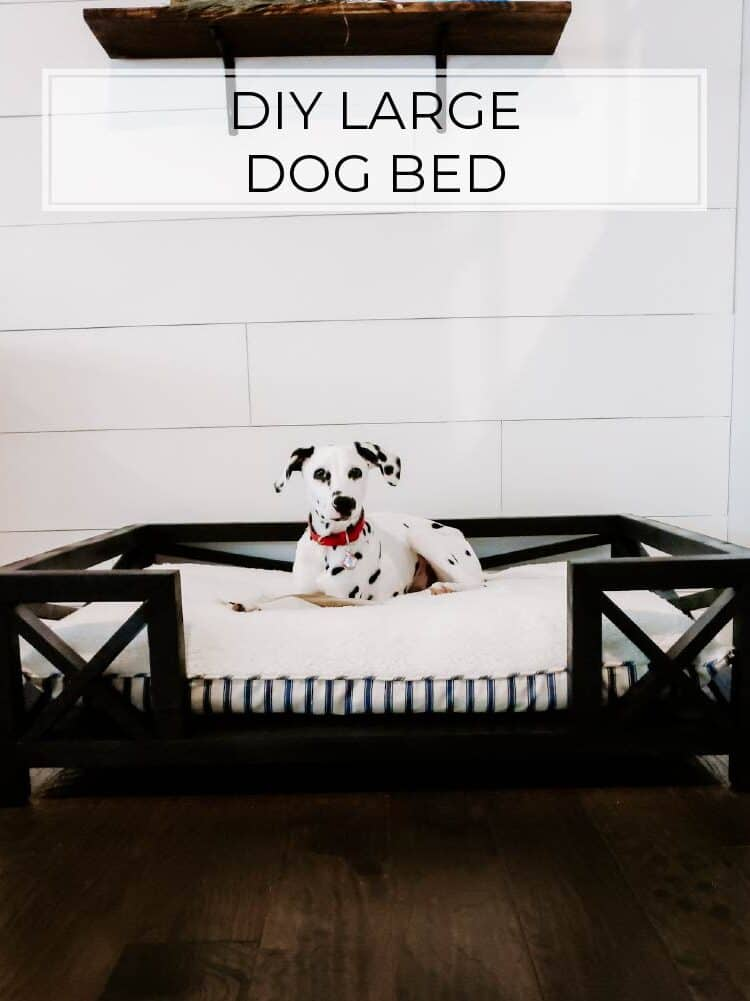 DIY Pottery Barn Dog Bed for Under $50