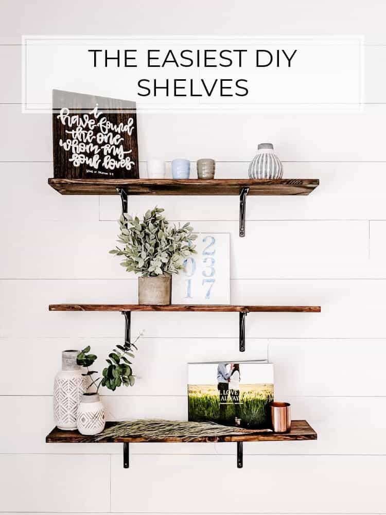 The Easiest DIY Shelves Tutorial for $10