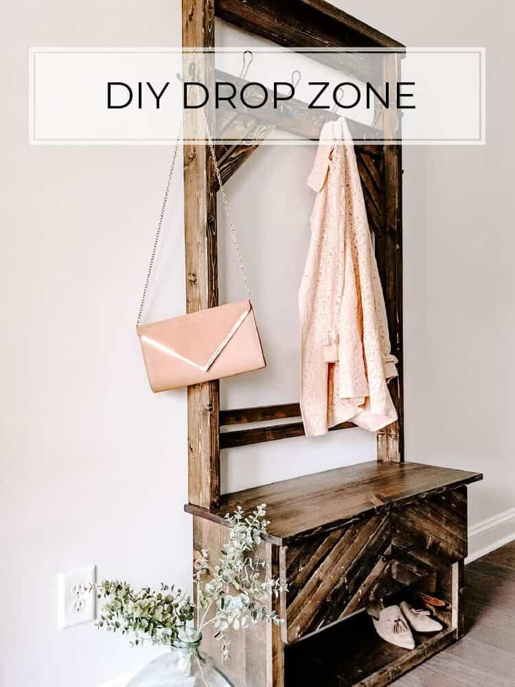 How to Build a DIY Hall Tree Bench with a Drawer
