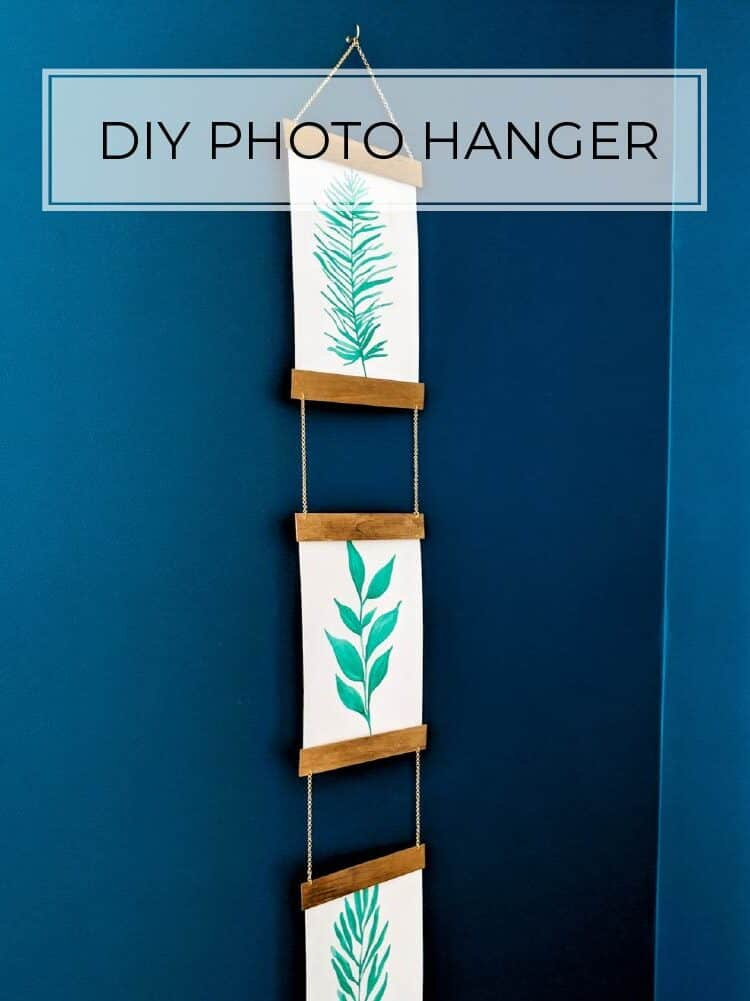 DIY Wooden Photo Hanger