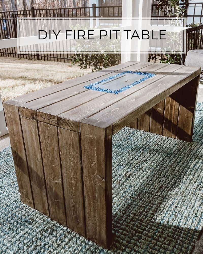 How To Build A Diy Fire Pit Table For 120 Crafted By The Hunts