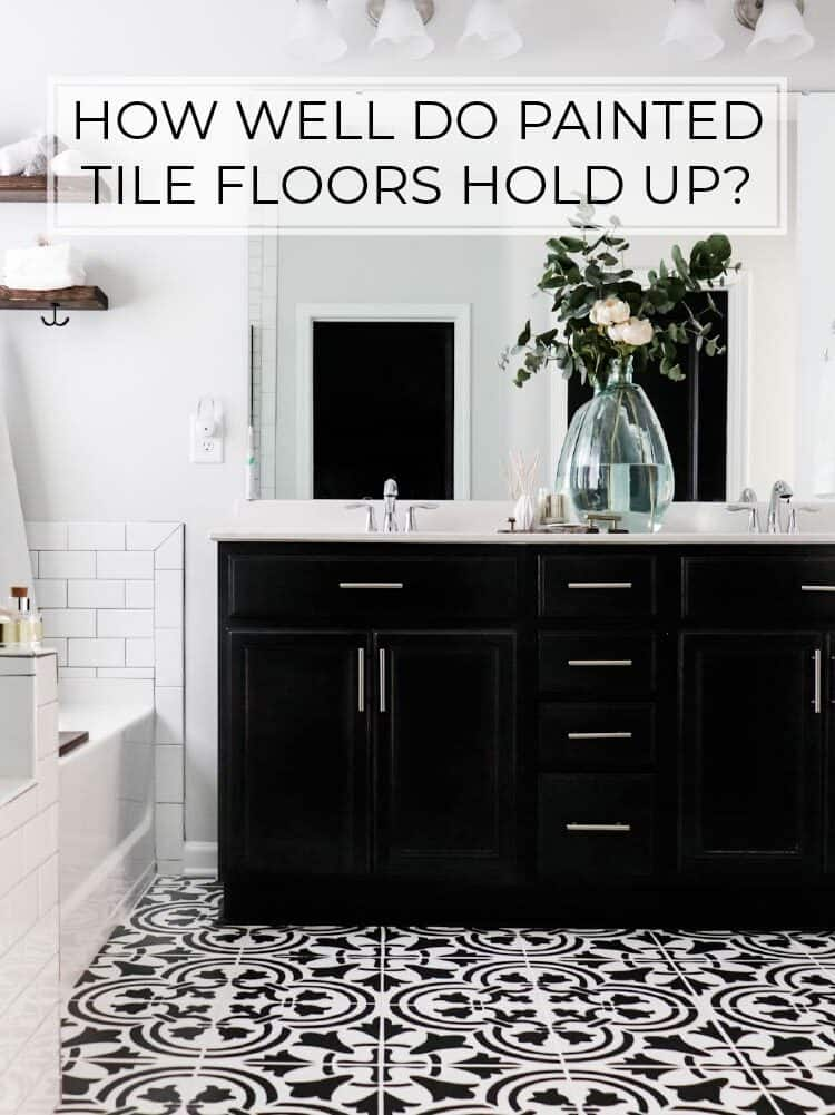 How well do painted tile floors hold up? Our one year review