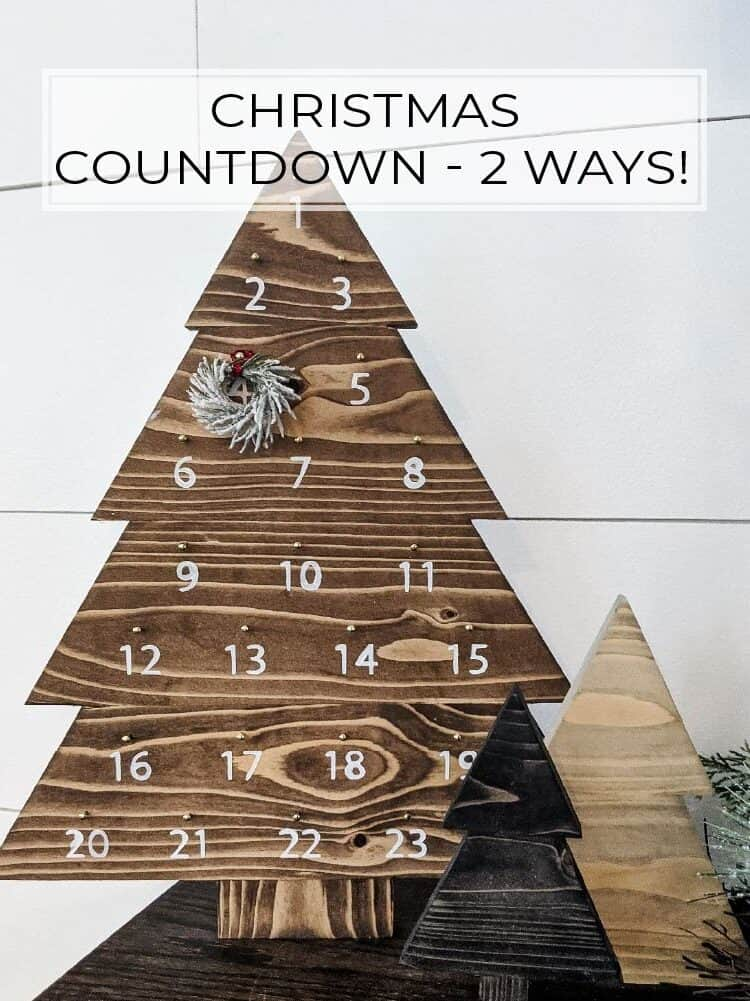 Easy DIY Christmas Countdown – 2 Ways!