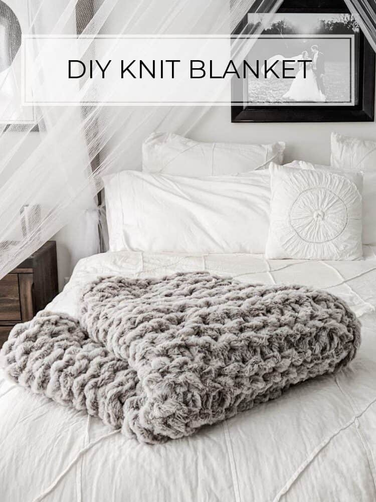 Easy DIY Knit Blanket – No Sewing Required!