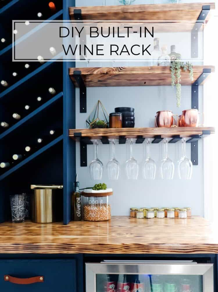 DIY Built-In Wine Rack