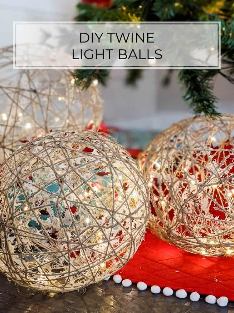 DIY Twine Balls with Lights