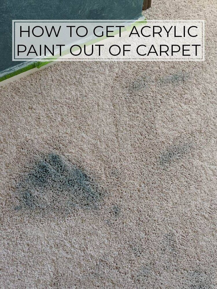 The Best Way to Get Acrylic Paint Out of Carpet