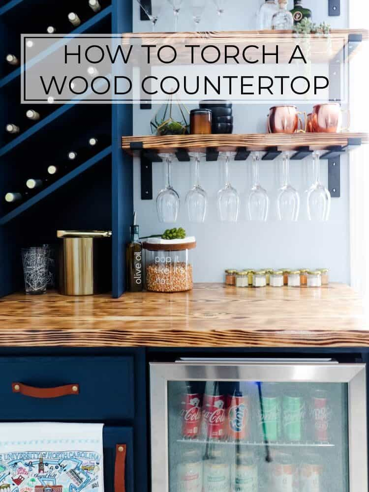 How to Torch Wood | DIY Torched Wood Countertop