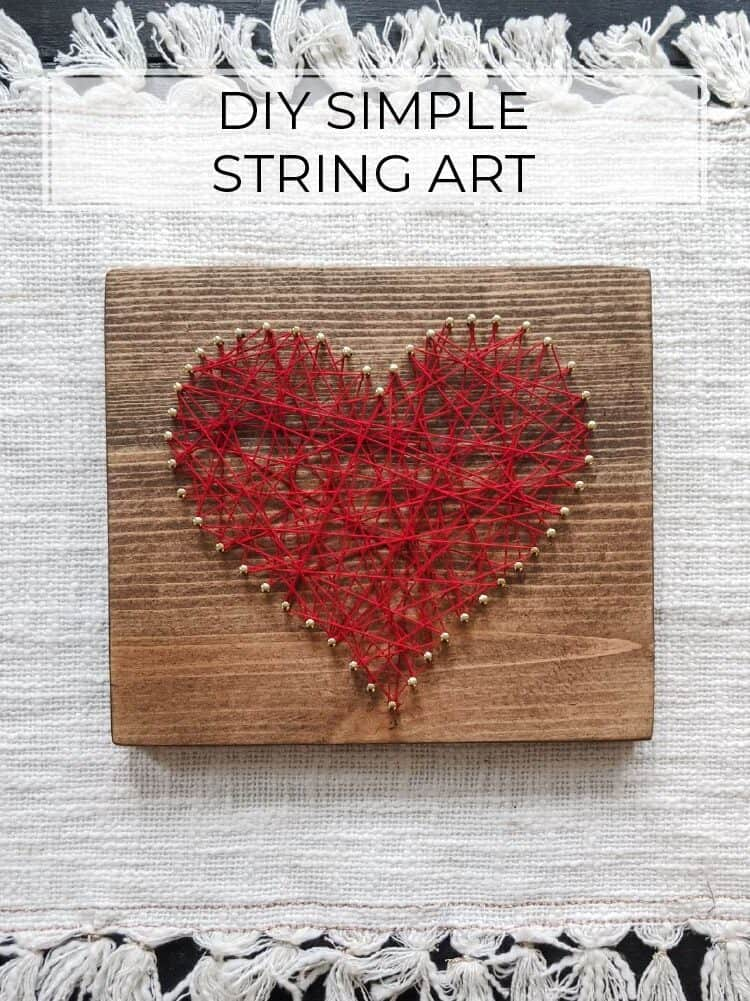 DIY Simple String Art Tutorial