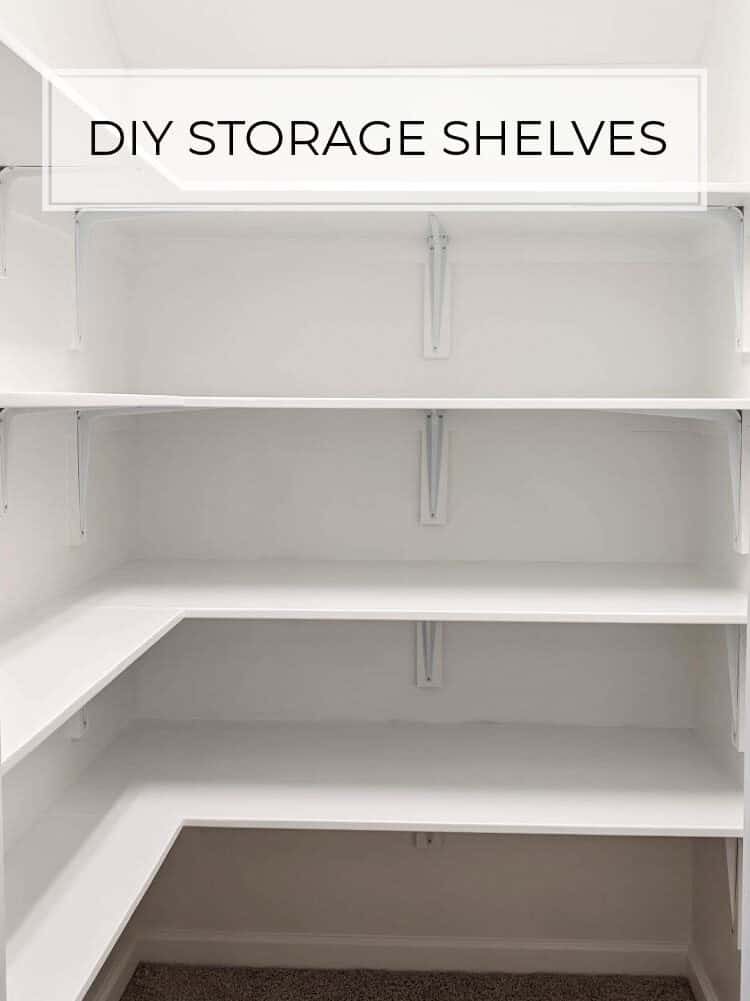 DIY Closet Storage Shelves