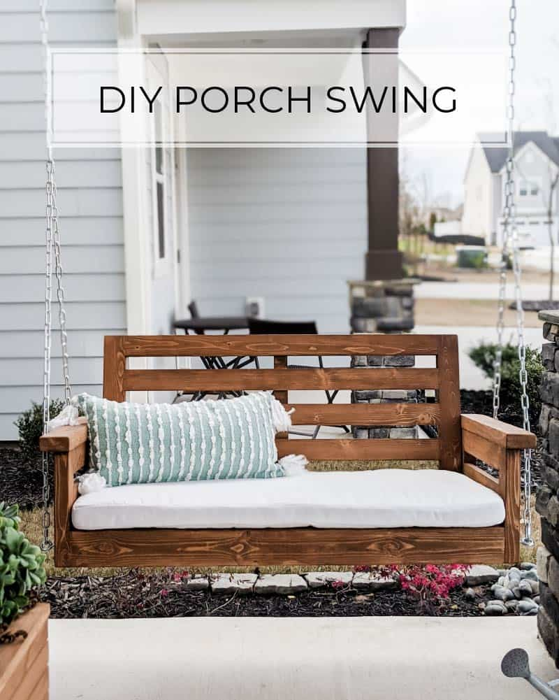 Diy Porch Swing Plans Crafted By The Hunts