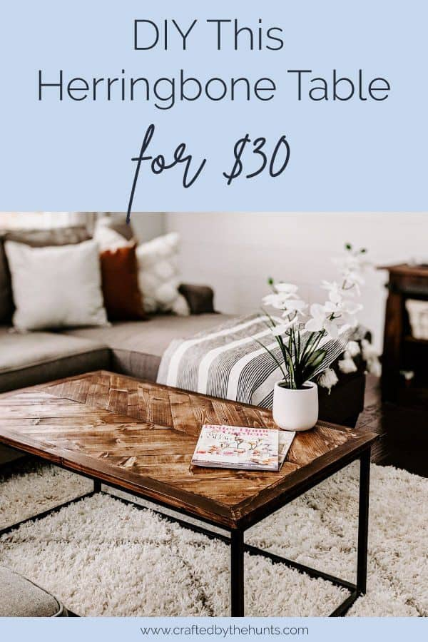 DIY this herringbone table top for $30