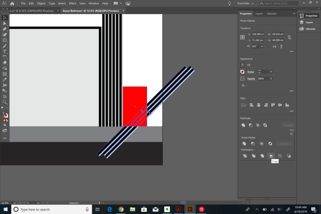 clipping objects in Adobe Illustrator