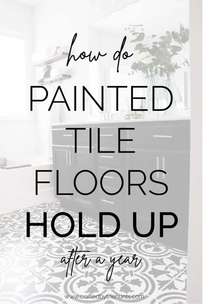 How do painted tile floors hold up after a year?
