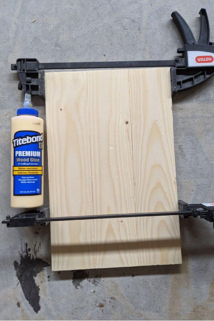 glue and clamp your boards together