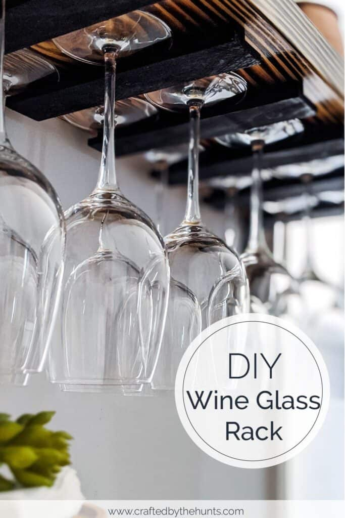DIY wine glass rack without t molding