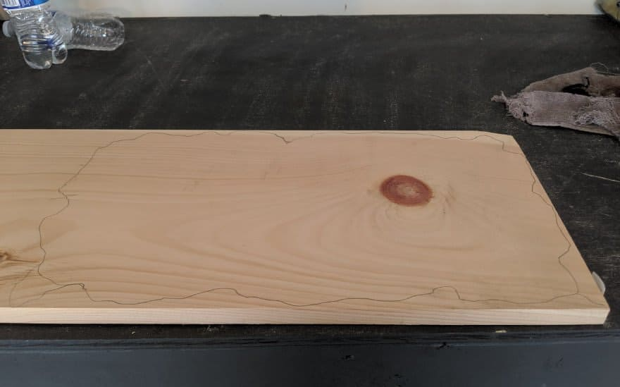 draw pattern on wood