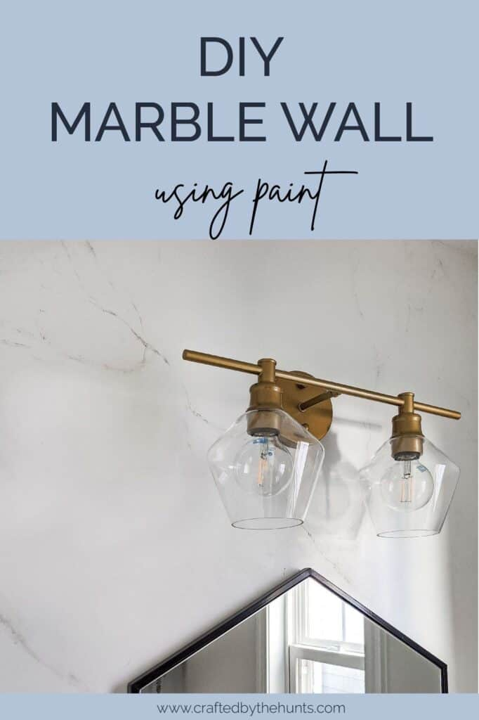 DIY marble wall using paint