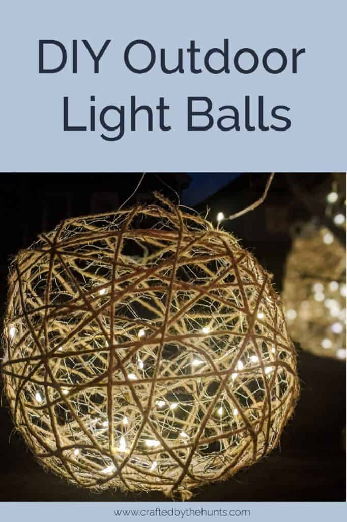 DIY outdoor light balls