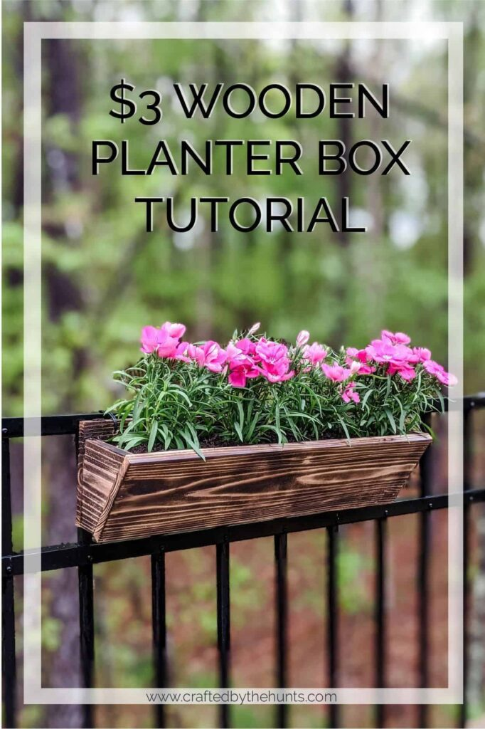 $3 wooden planter box tutorial for wood hanging planter