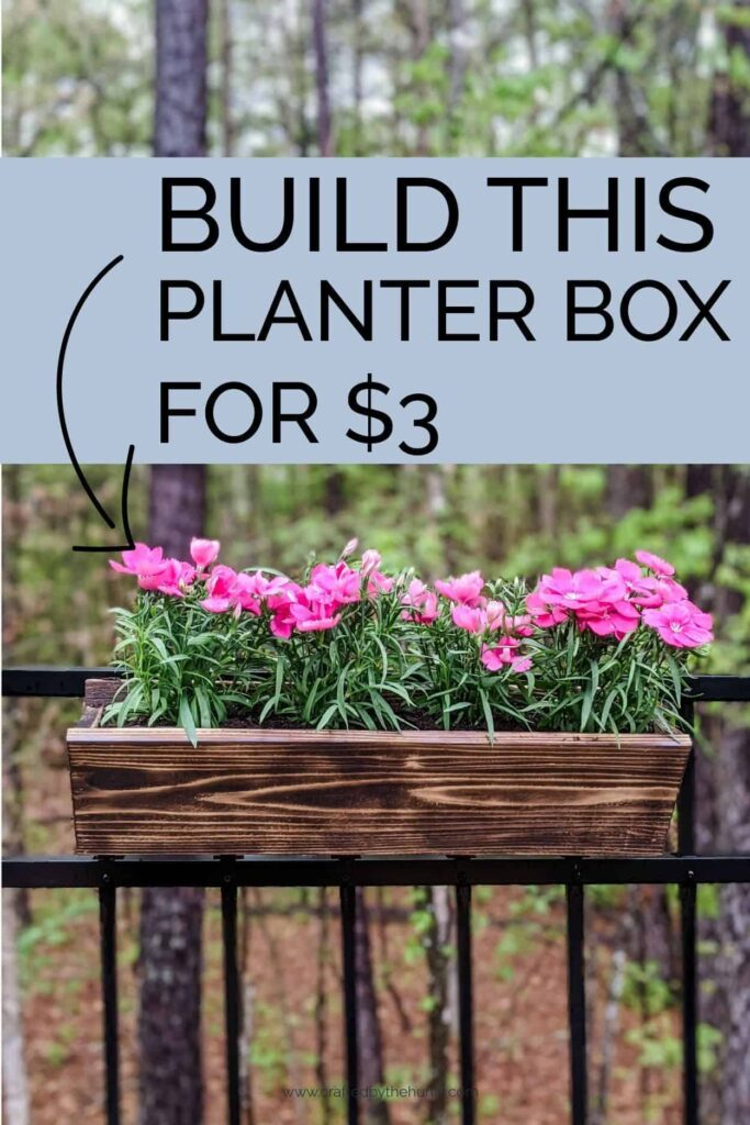 Build this hanging planter box for $3