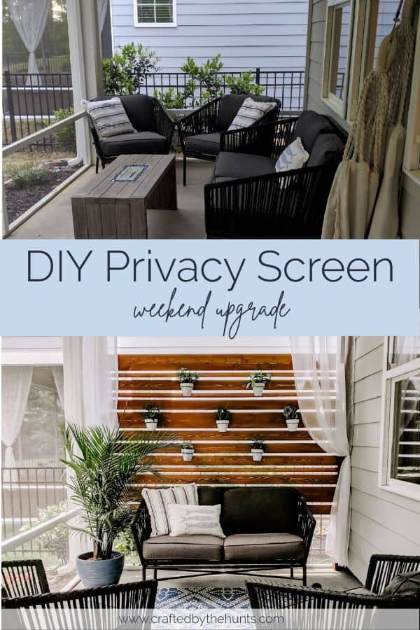 DIY privacy screen weekend upgrade before and after