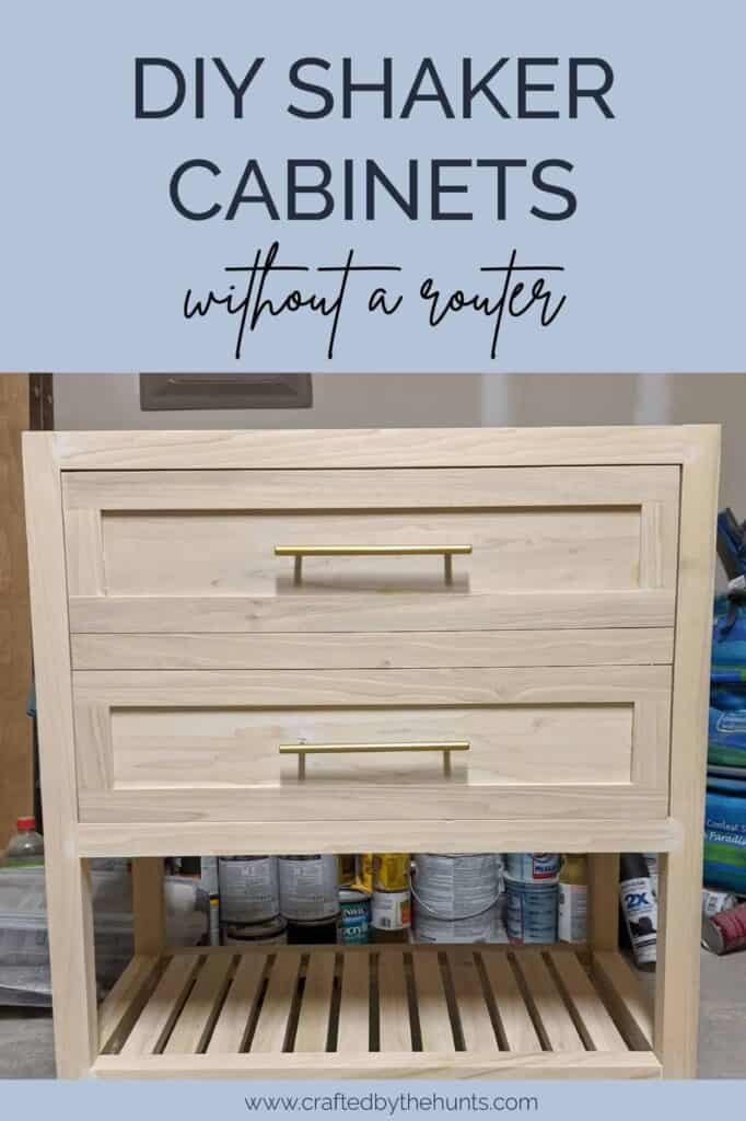 DIY shaker cabinets without a router