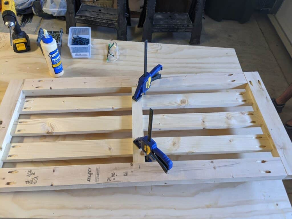 Adding support to back of DIY porch swing