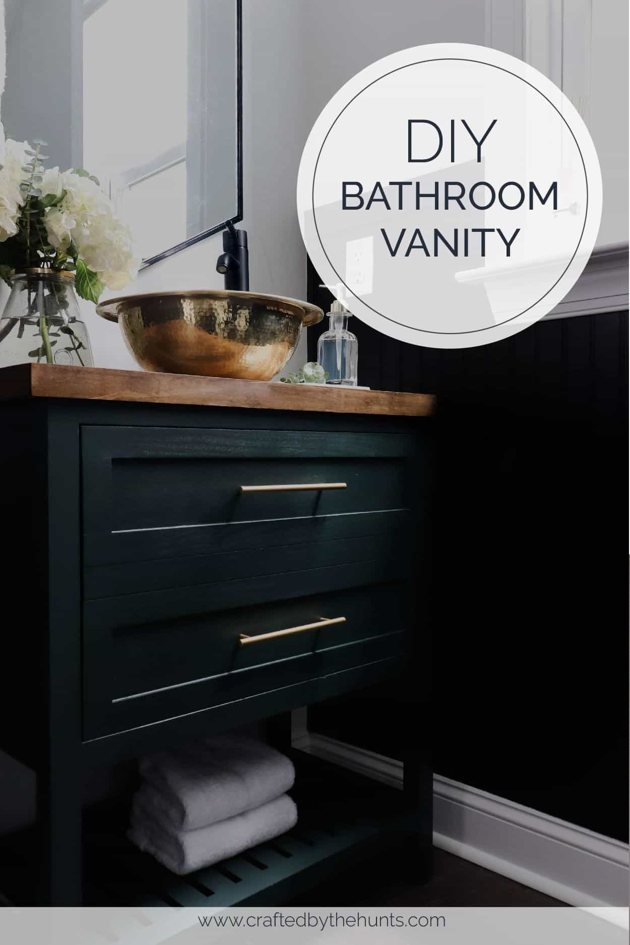 Build This Bathroom Vanity For 120 Crafted By The Hunts