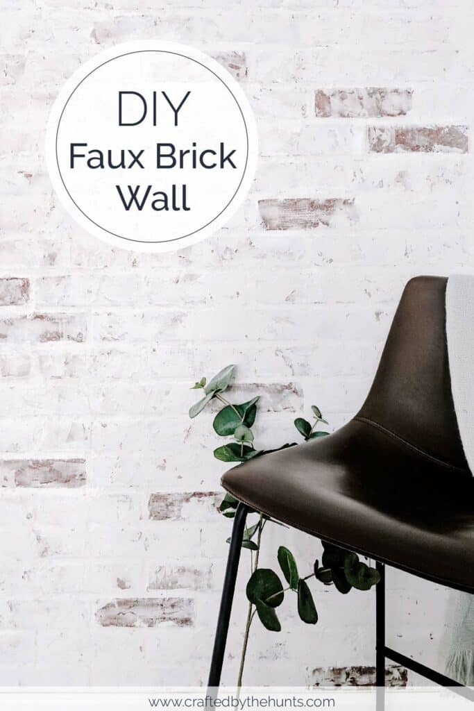 DIY faux brick wall with german smear technique