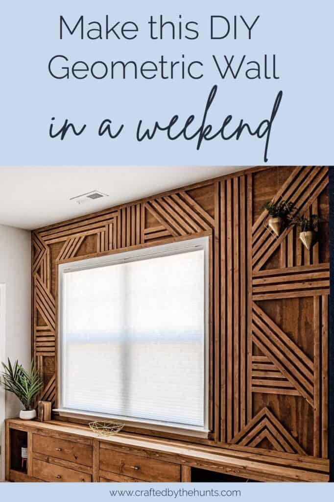 Make this DIY geometric wall in a weekend