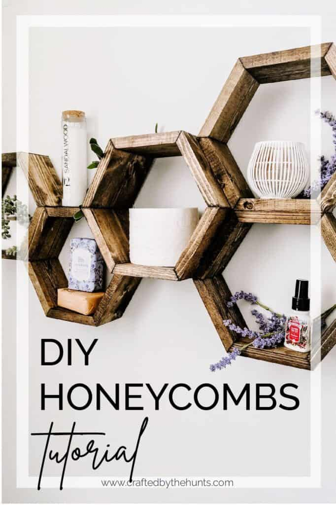 DIY honeycombs tutorial for bathroom shelves