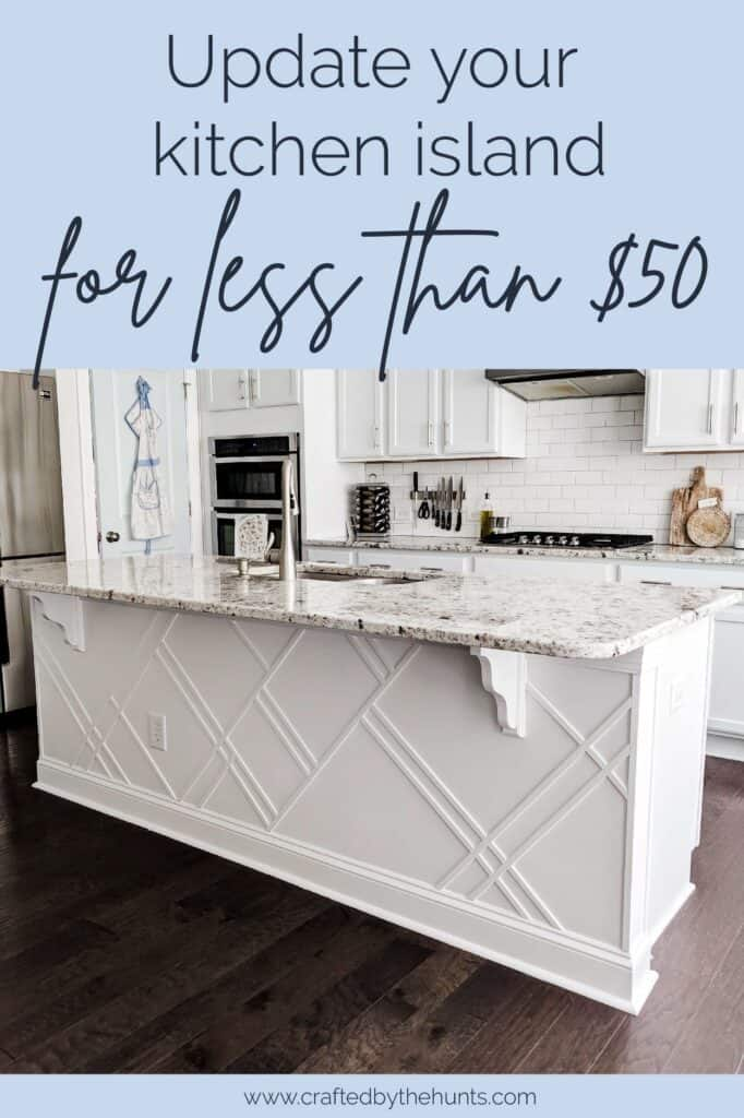 update your kitchen island for less than $50