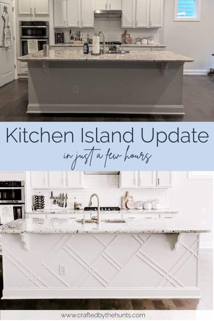 kitchen island update in just a few hours before and after