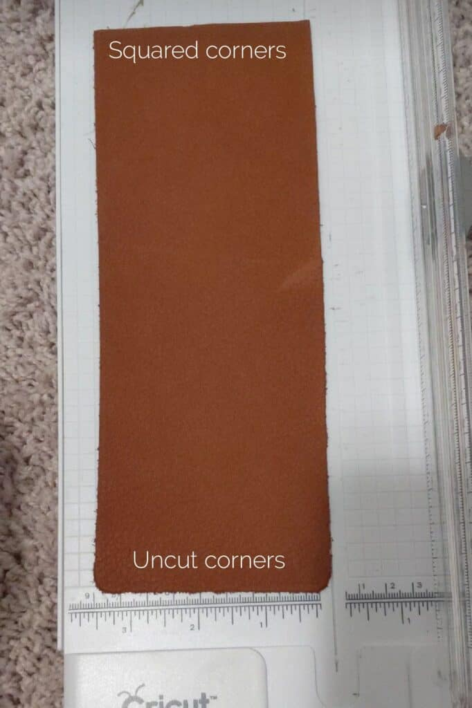 cutting leather with a paper cutter
