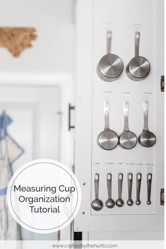 Measuring cup organization tutorial using command hooks