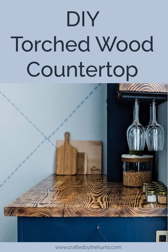 DIY torched wood countertop