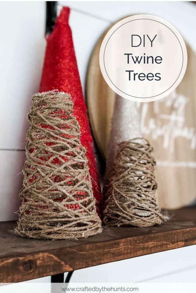 DIY twine trees close-up