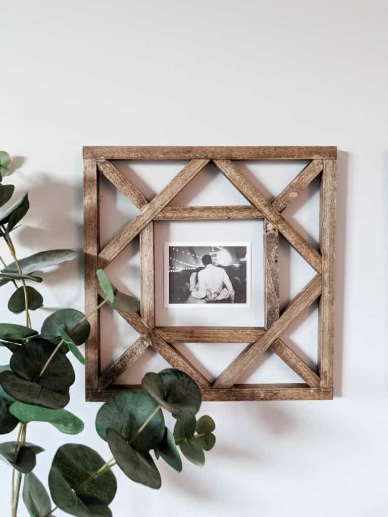 wood squares for wall decor