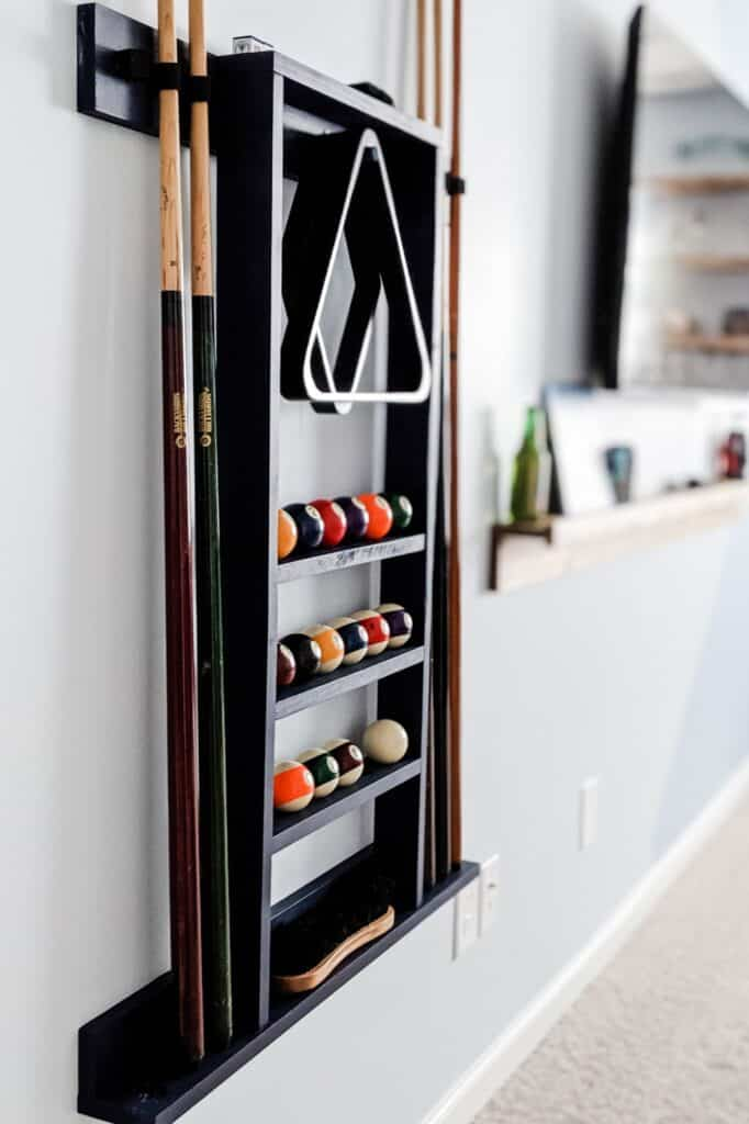 Navy blue pool cue holder