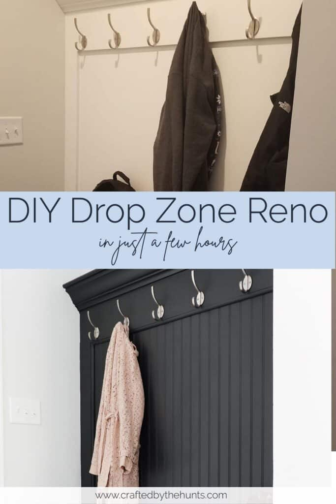 DIY drop zone reno in just a few hours | before and after drop zone