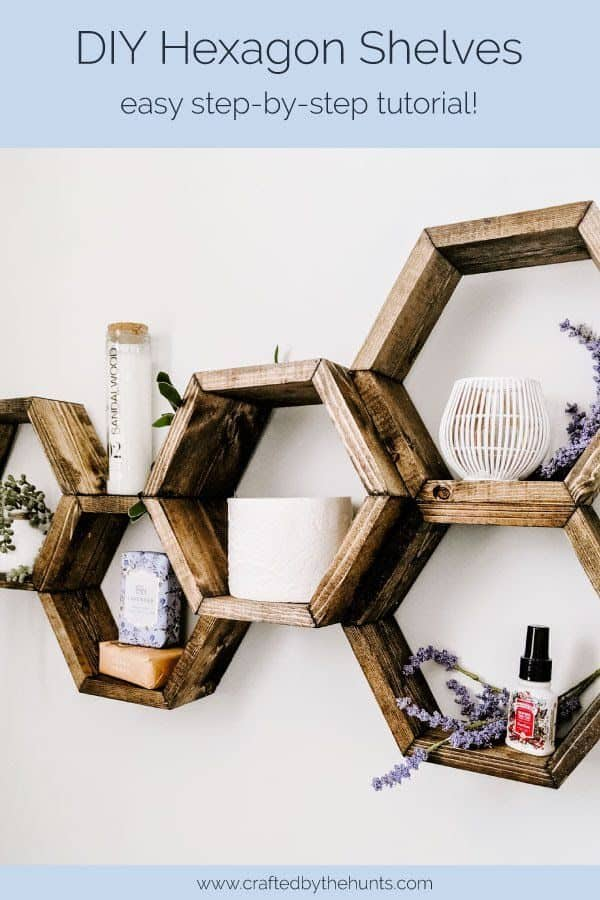 DIY Hexagon Shelves: easy step-by=step tutorial