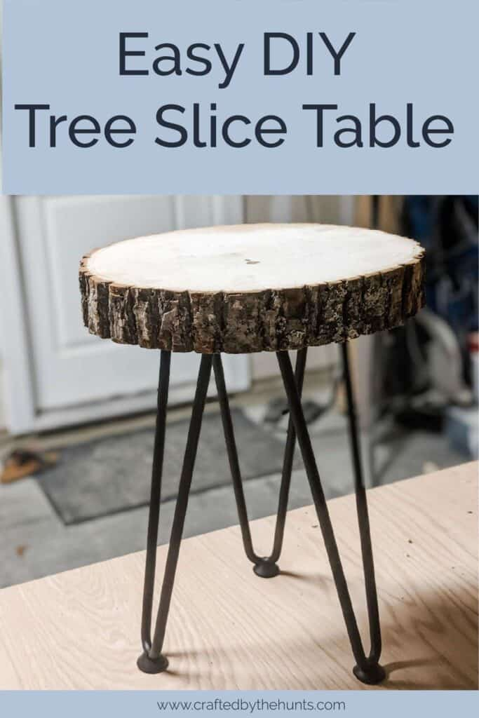Picture of: Easy Diy Live Edge End Table With Hairpin Legs Crafted By The Hunts