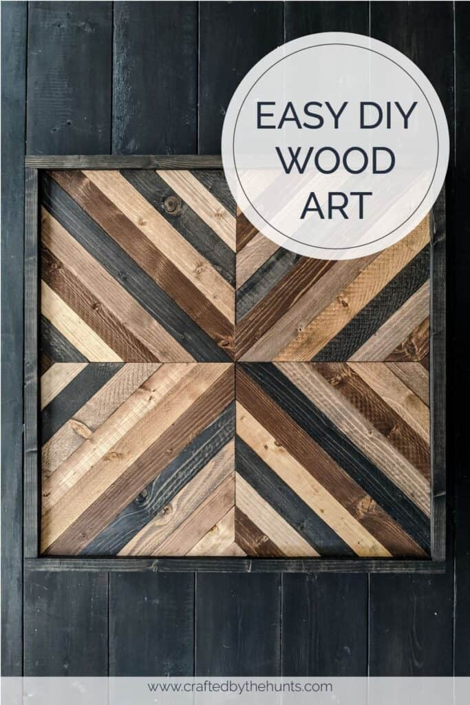 Easy DIY Wood Wall Art with Geometric Pattern