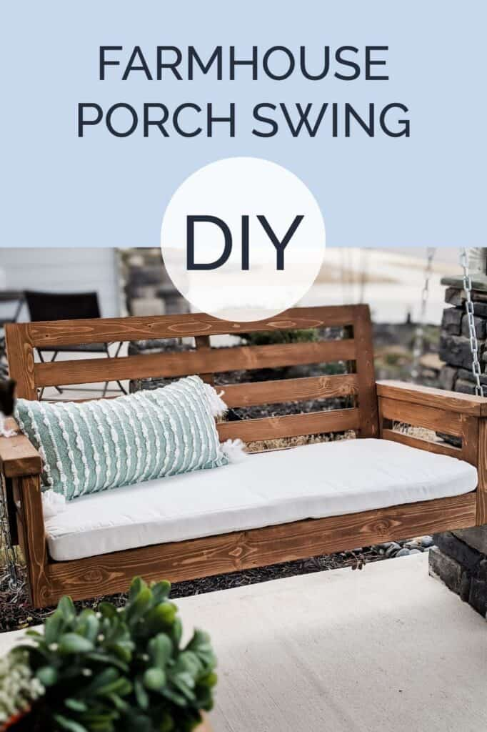 DIY Farmhouse porch swing plans