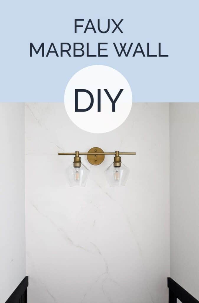 Faux marble wall DIY