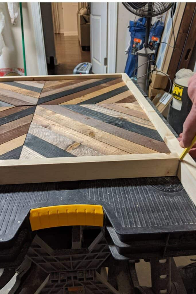 making a wood frame for wall art